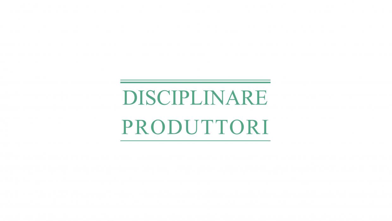 Disciplinare Produttori
